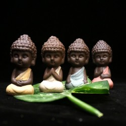 Small Buddha - ceramic statue - monk figurine