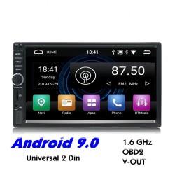 2 Din Bluetooth Android 9 radio auto - Wi-Fi - navigazione GPS - USB MirrorLink - MP5 MP3