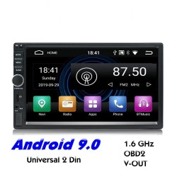 2 Din Bluetooth Android 9 radio auto - Wi-Fi - navigazione GPS - USB MirrorLink - MP5 MP3