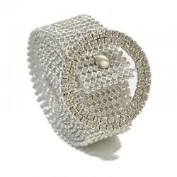 Transparent crystal belt - 120 cm