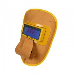 Auto darkening welding helmet - solar - leather mask