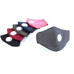 PM25 activated carbon filter mouth mask - anti pollution & dust - with air socket