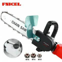 Upgraded 11.5inch electric chainsaw adjustable bracket - universal M10/M14/M16 chainsaw - set