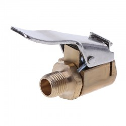 1pc car auto brass 8mm tyre wheel tire air chuck inflator pump - valve clip clamp connector adapter car-styling