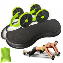 AB wheels roller - stretchable elastic resistance pull rope - abdominal muscle trainer