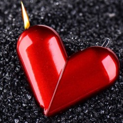 Heart-shaped rotatable cigarette gas lighter