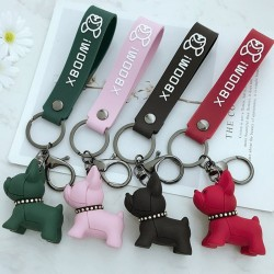 Soft resin French bulldog - keychain