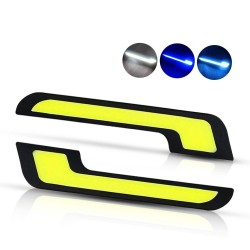 Car daytime running lights - LED - DRL - COB - waterproof - 2 pieces