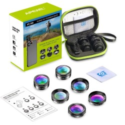 6 in 1 - phone camera - fish eye - wide angle - macro lens