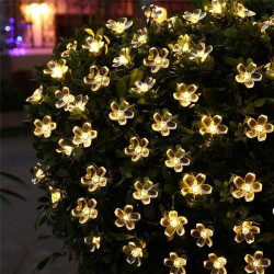 5m - 7m - 12m - 22m - Solar - LED - string lights - christmas decoration - flowers
