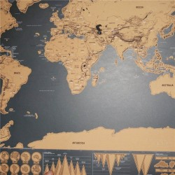 1pc - Scratch Map - World Travel Map - Creative - Home Decoration - Wall Stickers - Mini