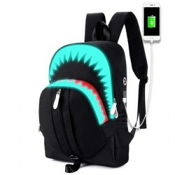 USB Charging - Luminous Backpack - Shark