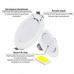 5W - 9W - 12W - 15W - 18W - Led Downlight - 220V