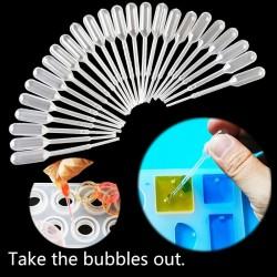 Plastic - Resin Jewelry - Transfer Pipettes - Silicone Mold