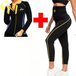 Slimming leggings & top - sauna effect - slimming fitness set