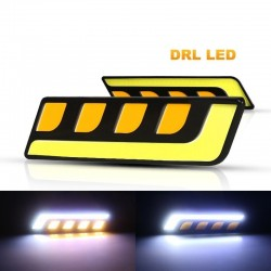 DRL car lights - Led - COB - waterproof - 12V - 2 pieces