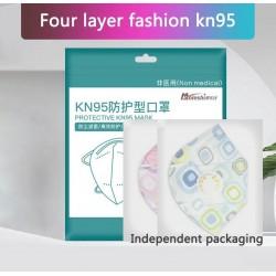 KN95 - antibacterial face / mouth protective masks - 4-layer - air valve - reusable - 10 - 20 - 50 - 100 pieces