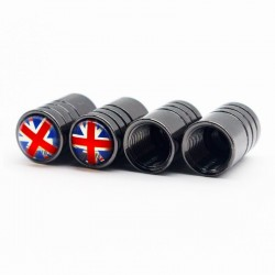 4pcs - uk flag - valve cap