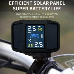 Motorcycle - Tire Pressure Monitoring System - 2 External Sensor - Real-time Display