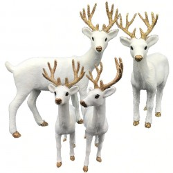 Christmas decoration - white reindeer - deer