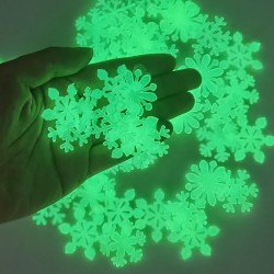 Luminous Snowflake - Christmas - Wall Sticker - 50pcs