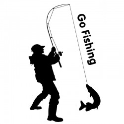 Go fishing - car sticker