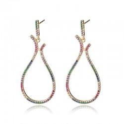Big pendant earrings - multicolored