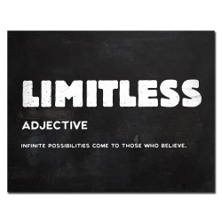 LIMITLESS - inspirational quote - wall poster - canvas