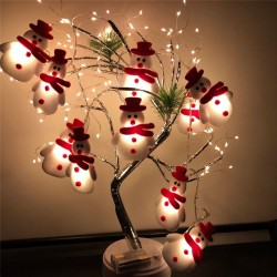 String with snowmans - LED Christmas tree decorative lights