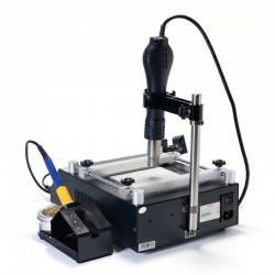 853AAA - digital soldering station - adjustable hot air bracket - quick heating