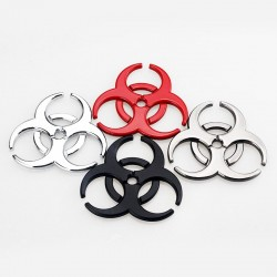 3D biohazard - metal emblem - car sticker