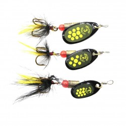 Sequin spoon wobble hook - fishing lure 3.9g - 4.4g - 7.4g
