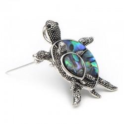 Vintage turtle shell brooch - brooch pins
