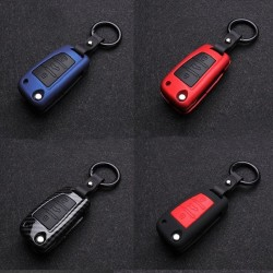 Silicone / carbon fiber - car key cover case with keychain - Audi - A3 - A4 - A5 - C5 - C6 - 8L - 8P