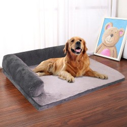 L-shaped pets bed - soft sleeping mat