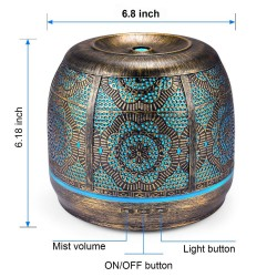 Aroma humidifier - 500ml - essential oil diffuser - with 7 light colors