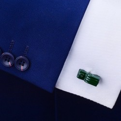 Green car model - cufflinks - 2 pieces
