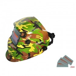 Welding helmet - auto darkening - full face mask - army camouflage