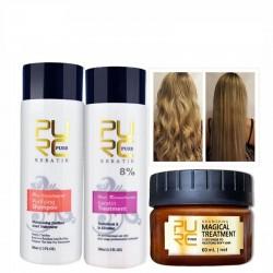 Straightening & repair damage hair - Brazilian keratin treatment - shampoo - conditioner - mask - 3 pieces