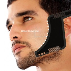 Beard shaping - beard styling template - with comb