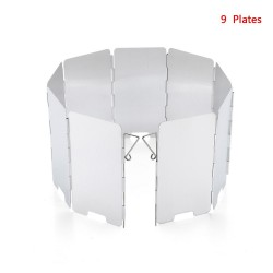 Gas stove windshield - 9 plates - foldable - outdoor / camping