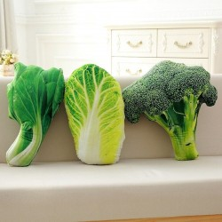 Vegetable shaped pillow - plush toy - broccoli / Chinese cabbage / choi sum