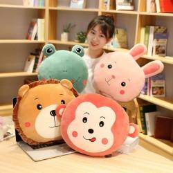 Animals shaped pillow - plush toy - lion - rabbit - monkey - frog