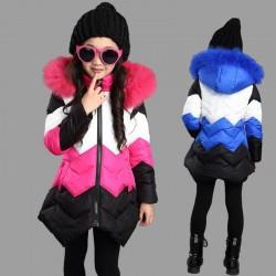 Warm down jacket - with detachable fur hood