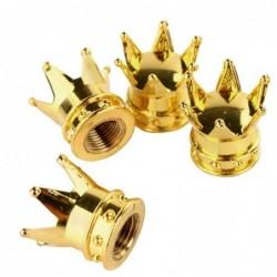 Car valve caps - gold crown - 4 pieces