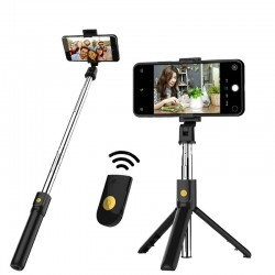 3 in 1 selfie stick - wireless - Bluetooth - foldable handheld monopod - tripod - with remote