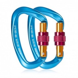 25KN carabiner - with screw lock buckle - for hiking / rock climbing / camping