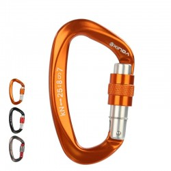 Carabiner - safety screw buckle - for climbing - camping - hiking - 25kN - 1 piece / 2 pieces / 5 pieces