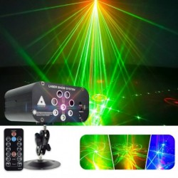 Stage / disco light - laser projector - 128 patterns - RGBW - LED