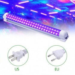 T8 tube - ultraviolet lamp - 60 LED - 10W - backlight / stages / parties